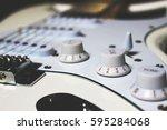 vintage guitar | Shutterstock . vector #595284068