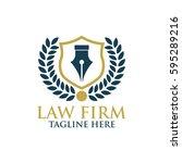 law firm  finance agency logo   Shutterstock .eps vector #595289216