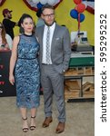 """Small photo of LOS ANGELES, CA. August 9, 2016: Actor Seth Rogen & wife Lauren Miller at the world premiere of """"Sausage Party"""" at the Regency Village Theatre, Westwood."""