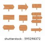 set of signboards   Shutterstock .eps vector #595298372