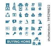 buying home icons | Shutterstock .eps vector #595298822