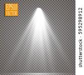 vector spotlights. scene. light ...   Shutterstock .eps vector #595298912