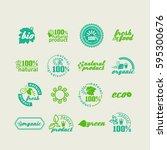 set of elements for design  ... | Shutterstock .eps vector #595300676
