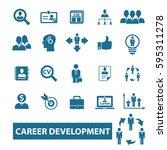 career icons  | Shutterstock .eps vector #595311278
