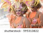 tenerife  march 05  carnival of ... | Shutterstock . vector #595313822