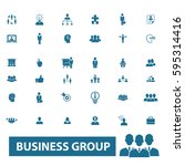 business group icons  | Shutterstock .eps vector #595314416