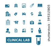 clinical lab icons  | Shutterstock .eps vector #595315805