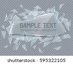 vector transparent broken glass ... | Shutterstock .eps vector #595322105
