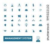 management icons  | Shutterstock .eps vector #595322132