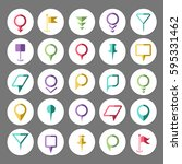 abstract map marker elements.... | Shutterstock .eps vector #595331462