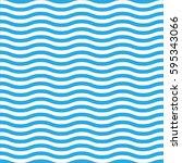wavy line seamless pattern in... | Shutterstock .eps vector #595343066