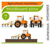 agricultural machinery ... | Shutterstock .eps vector #595349855