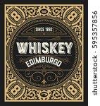 whiskey card. vertical design | Shutterstock .eps vector #595357856