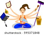 mother's day | Shutterstock .eps vector #595371848