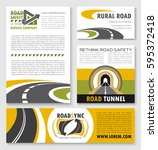 banner and flyer template with... | Shutterstock .eps vector #595372418