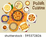 polish cuisine tasty lunch icon ... | Shutterstock .eps vector #595372826