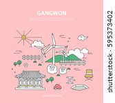 gangwon line layer set | Shutterstock .eps vector #595373402