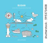 busan line layer set | Shutterstock .eps vector #595373408