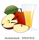 apples and a glass of apple... | Shutterstock .eps vector #59537413