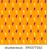thunder pattern. minimalistic... | Shutterstock .eps vector #595377332