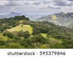 hills and valleys in rancho... | Shutterstock . vector #595379846