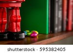 foil wrapped easter chocolate... | Shutterstock . vector #595382405