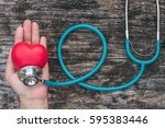 healthcare insurance and world... | Shutterstock . vector #595383446