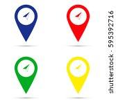 location marker arrow icons.... | Shutterstock .eps vector #595392716