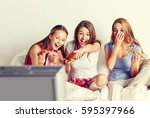 friendship  people  pajama... | Shutterstock . vector #595397966