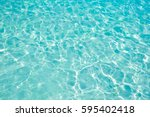 blue sea wave ripple curl water ... | Shutterstock . vector #595402418