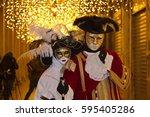 venetian carnival   masks and... | Shutterstock . vector #595405286