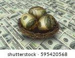 Egg Shaped Money In Nest On...