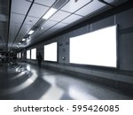 blank billboard banner media... | Shutterstock . vector #595426085