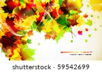 colorful autumn background... | Shutterstock .eps vector #59542699