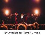 blurred background   bokeh... | Shutterstock . vector #595427456