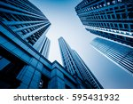 skyscrapers from a low angle... | Shutterstock . vector #595431932