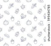 thanksgiving day background... | Shutterstock .eps vector #595434785