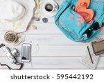 travel plan  trip vacation... | Shutterstock . vector #595442192