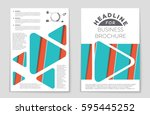 abstract vector layout... | Shutterstock .eps vector #595445252