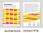 abstract vector layout... | Shutterstock .eps vector #595447976