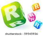 glossy transparent vector abc...   Shutterstock .eps vector #59545936