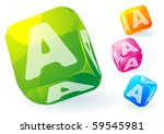 glossy transparent vector abc... | Shutterstock .eps vector #59545981