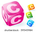 glossy transparent vector abc... | Shutterstock .eps vector #59545984