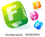 glossy transparent vector abc...   Shutterstock .eps vector #59545993