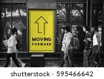 moving forward aspirations...   Shutterstock . vector #595466642