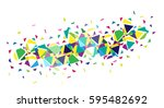 flat abstract bright creative... | Shutterstock .eps vector #595482692