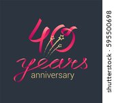 40 years anniversary vector... | Shutterstock .eps vector #595500698