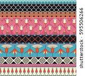 egyptian ornament tribal...   Shutterstock .eps vector #595506266