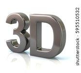 3d illustration of silver 3d... | Shutterstock . vector #595510532