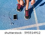 running motivation music on... | Shutterstock . vector #595514912